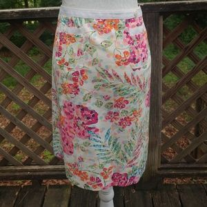 Talbots Petites Floral Skirt - Size 8